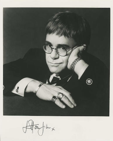 Elton John and Kiki Dee autographed photographs