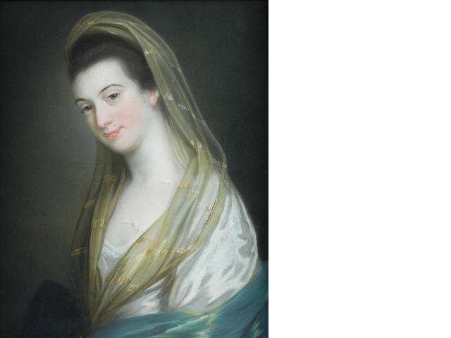 Attributed to William Hoare (near Eye, Suffolk 1707-1792 Bath) Portrait of be Lady Juilana Penn