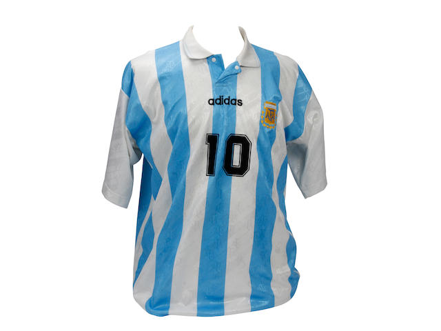 Diego Maradona's last match worn Argentina shirt