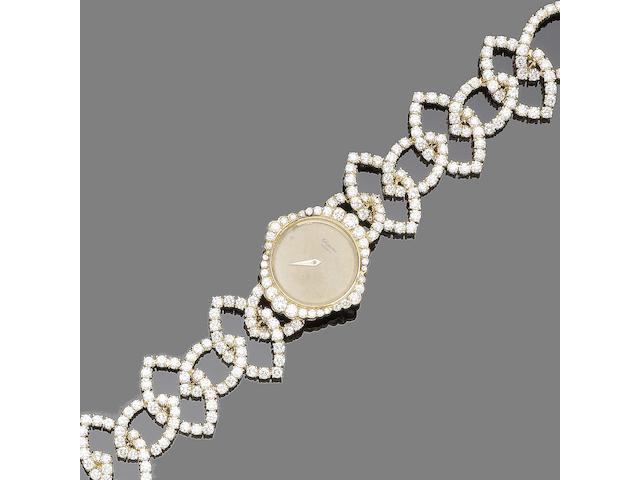A diamond wristwatch, by Chopard