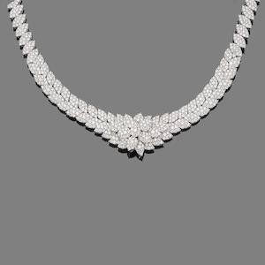 A diamond necklace