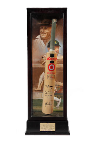 Daryll Cullinan 337 not out cricket bat presentation