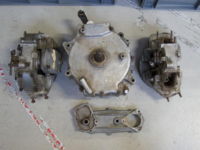 A partially complete Velocette KSS engine,