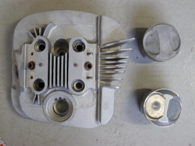 A Manx Norton 500cc 'Ray Petty' cylinder head