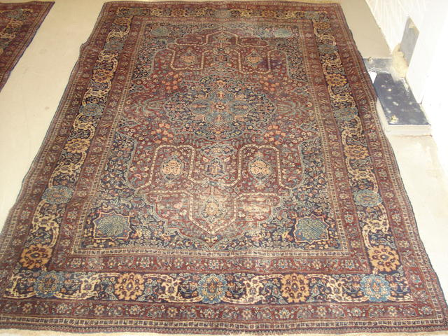 A pair of Tabriz rugs, North West Persia, 206cm x 140cm