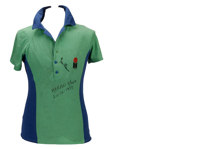 Imran Khan match worn Pakistan shirt