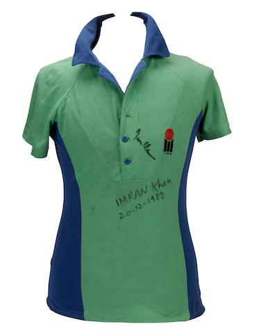 Imran Khan match worn Pakistan shirt