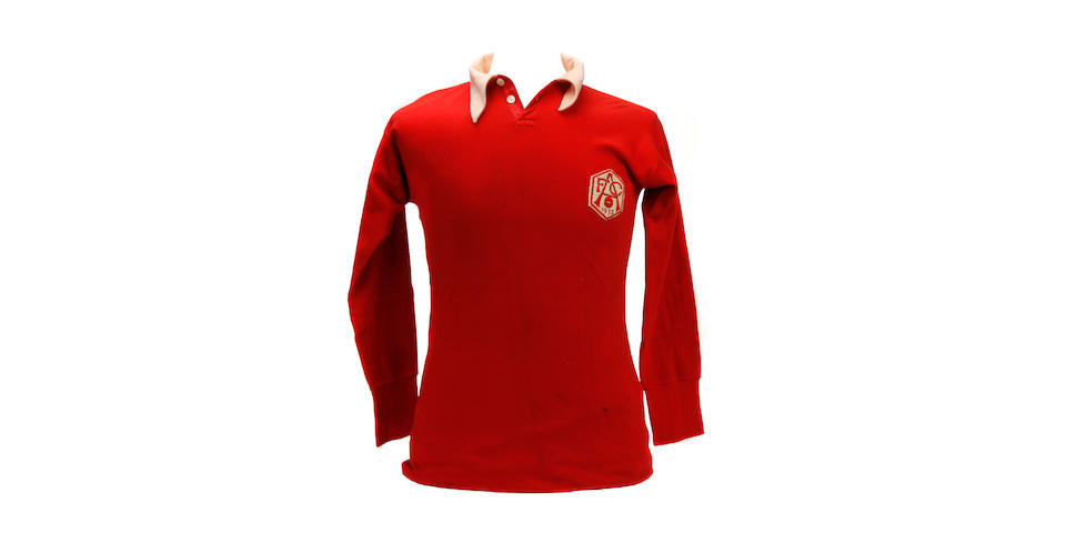 1932 Arsenal match worn shirt : Charlie Jones