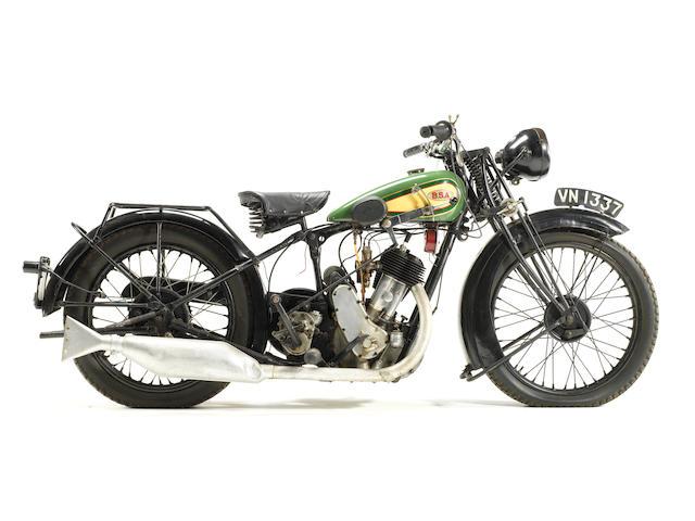 1930 BSA 500cc S.30 'Sloper' Frame no. XH 8630 Engine no. XS 2739