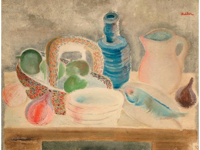 Jankel Adler (Polish, 1895-1949) Still life on a tabletop