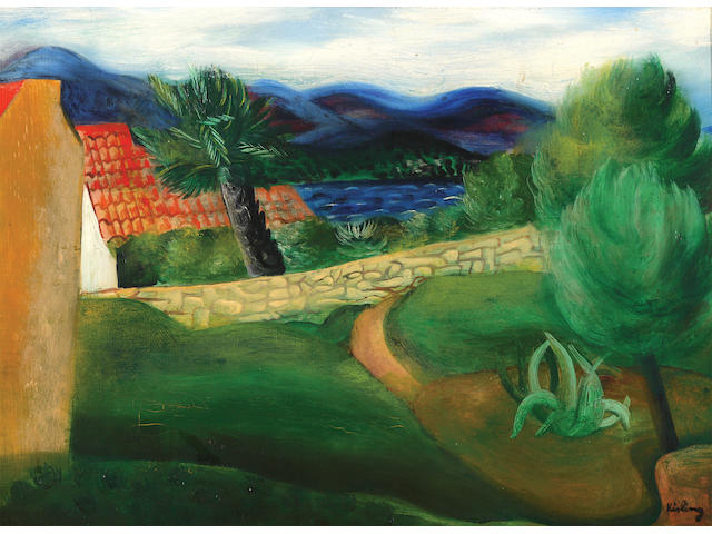 Moïse Kisling (French, 1891-1953) Landscape in the south of France