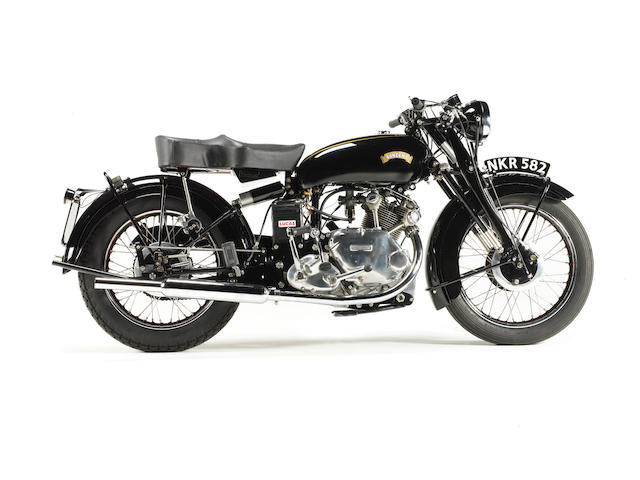 Only 7 miles since restoration,1951 Vincent 499cc Comet Frame no. RC/1/9187D Engine no. F5AB/2A/7709