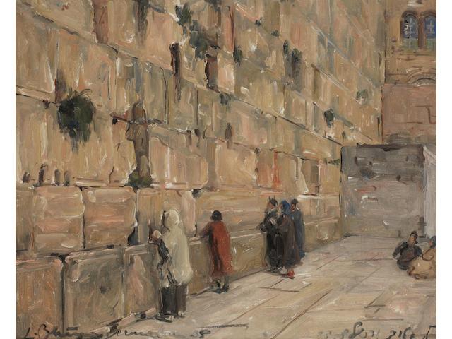 Ludwig Blum (Israeli, 1891-1975) The Western Wall