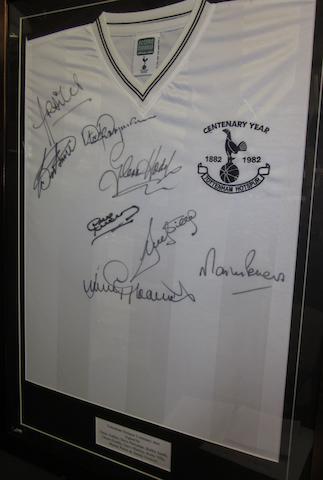 A Tottenham Hotspurs Centenary year hand signed shirt