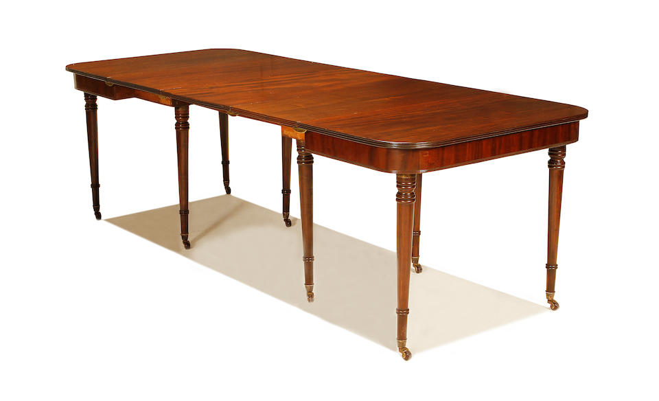 A Regency mahogany campaign 'Imperial type' extending dining table