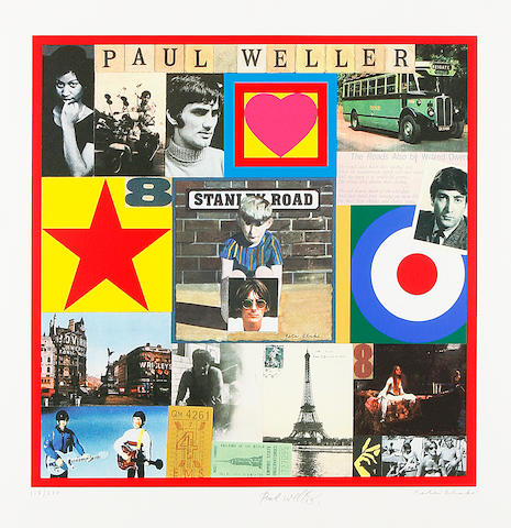 Sir Peter Blake (British, born 1932) Paul Weller's Stanley Road Screenprint in colours, 2003, on wove, signed and numbered 115/250 in pencil, counter-signed by Paul Weller, with full margins, 485 mm X 485 mm (19 1/8 x 19 1/8in)(I)