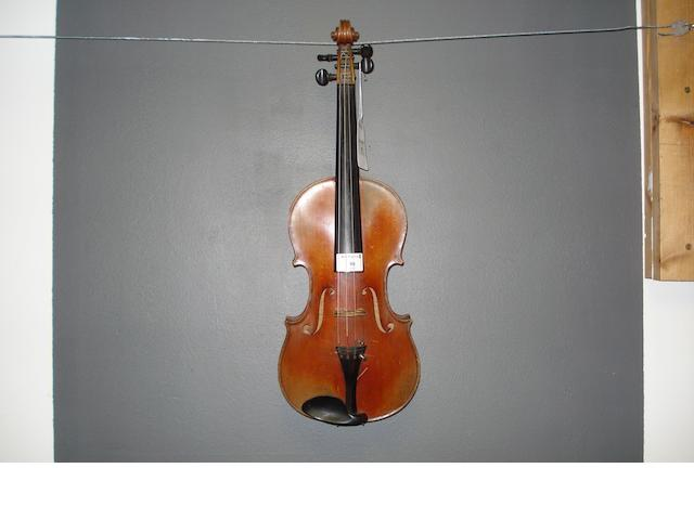 A French Violin of the Caussin School circa 1900  (3)