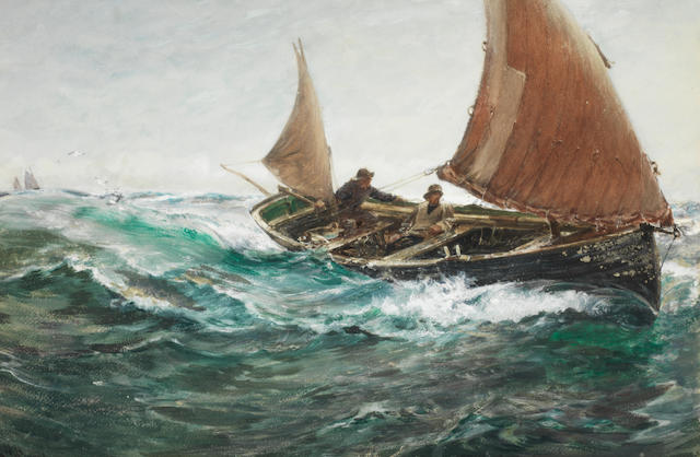 Charles Napier Hemy, RA RWS (British, 1841-1917) Off to the fishing grounds