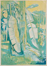 John Minton (British, 1917-1957) Tropical Scene Lithograph printed in colours, 1951, on wove, signed in pencil, 380 x 270mm (15 x 10 5/8in)(I)