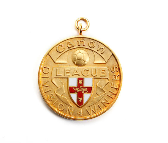 1983/84 League Division 4 winners medal awarded to York's Vivian Busby