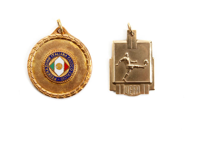 1962/63 U.E.F.A Junior International tournament medals awarded to Tommy Smith