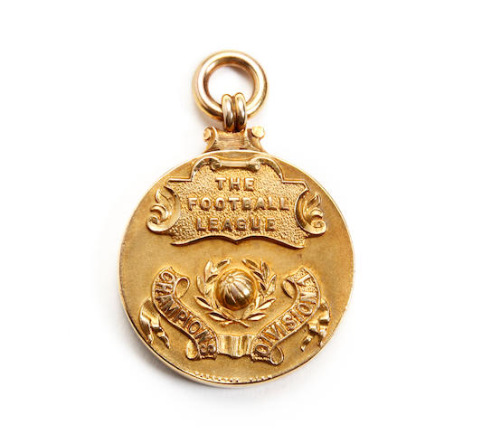 1930/31 Arsenal division one champions medal awarded to Charlie Jones