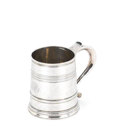 A Queen Anne silver mug