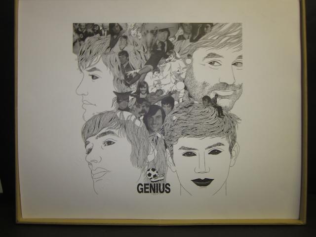 George Best prints including Best, Banks, Law hand signed prints