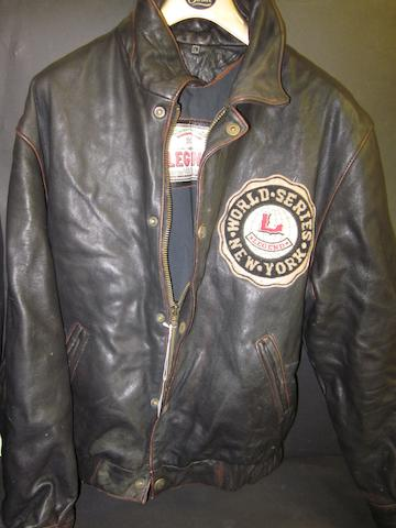 World Series New York leather jacket worn by George Best