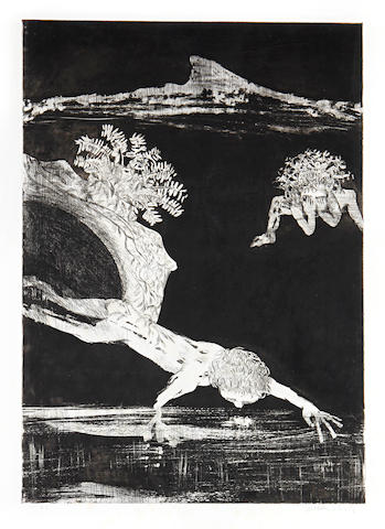 Arthur Boyd (1920-1999) Narcissus Aquatint 3 unframed Narcissus Etching with aquatint, 1983-1984, on Arches, signed in pencil, from the edition of 25, with full margins,     608 x 425mm (24 x 16 3/4in)(PL)  ARE THERE SUPPOSED TO BE 3 CHECK WITH ROB 3 unframed