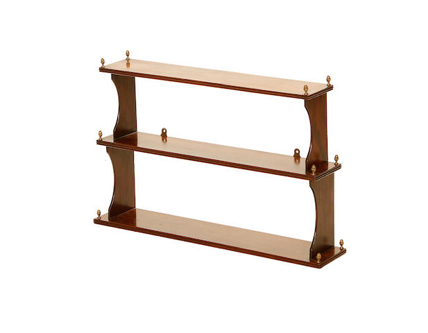 A set of 19th century mahogany hanging shelves