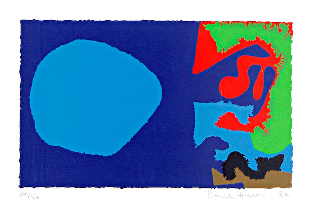 Patrick Heron (British, 1920-1999) October 5 Screenprint in colours, 1982, on Whatman, signed, dated and numbered 24/50 in pencil, as included in Thirty-five artists by the R.C.A., published by the Royal College of Art, London, with wide margins, 175 x 290 mm (6 3/4 x 11 1/3in)(I)(unframed)