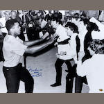 Muhammad Ali/Beatles print hand signed by Ali
