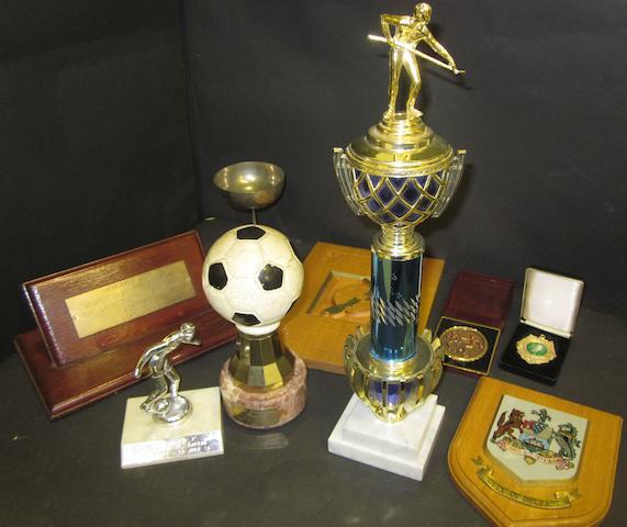 Various items presented to George Best