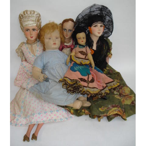 Five cloth dolls 5