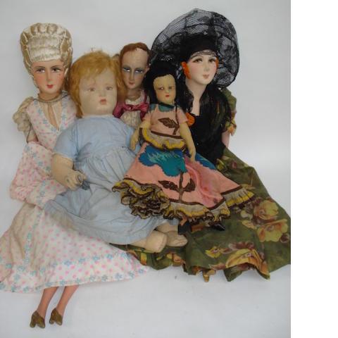 Five cloth dolls 5