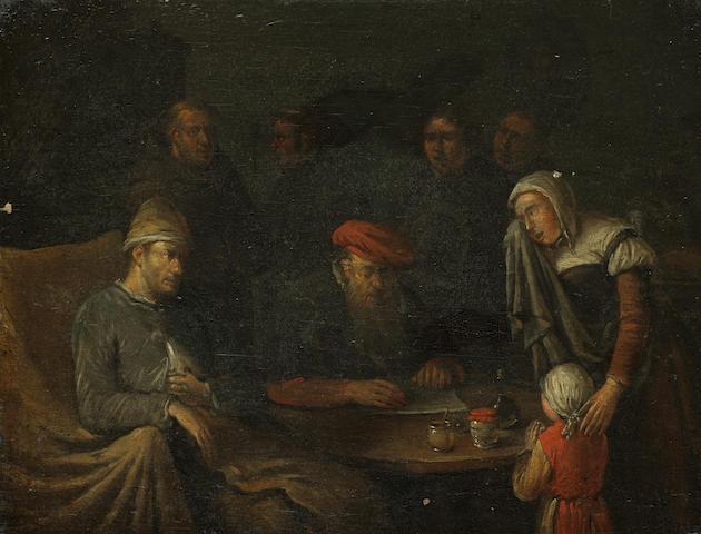 Circle of Egbert van Heemskerck the Younger (Haarlem circa 1676-1744 London) The tax collector