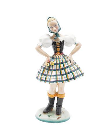 Lenci figure in a havarian dress