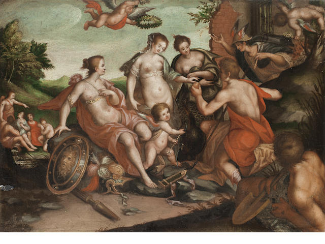 After Hans von Aachen, 18th Century The Judgment of Paris