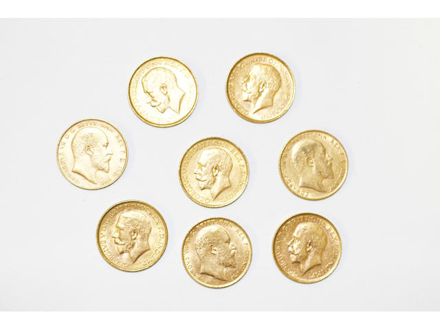 George V: Eight sovereigns