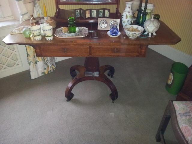 A Regency rosewood sofa tble