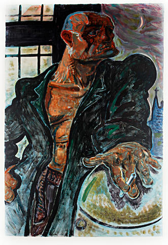 Peter Howson (British, born 1958) The Noble Dosser Monoprint, 1987, on wove, signed, titled and dated in pencil, the full sheet, 1005 x 750mm (41 1/4 x 29 1/2in)(I)
