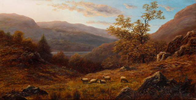 William Mellor (British, 1851-1931) 'Peep of Ulswater from the hills, Westmorland'