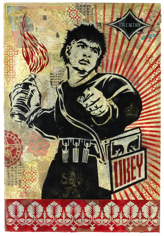 Shepard Fairey (b.1970) Take Action, 2005