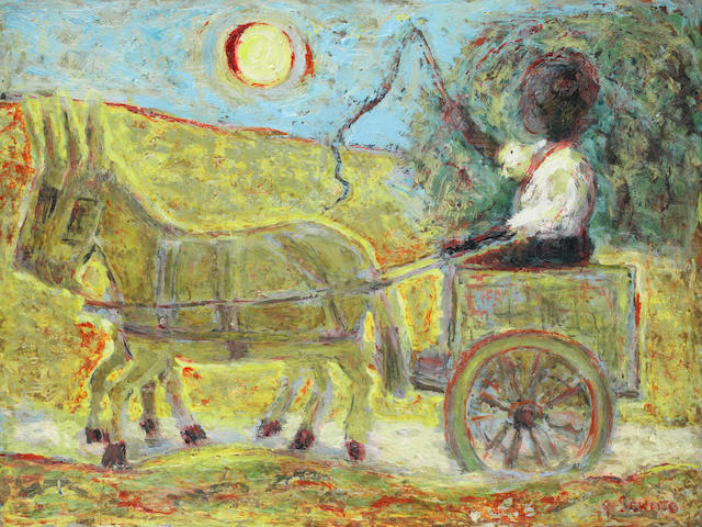 Gerard Sekoto (South African, 1913-1993) Donkey cart