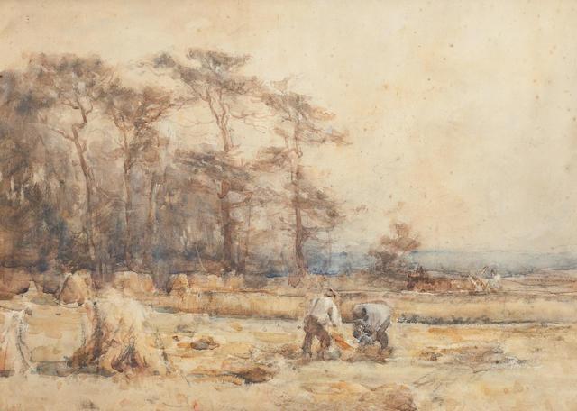 John MacLauchlan Milne, RSA (British, 1886-1957) Gathering hay