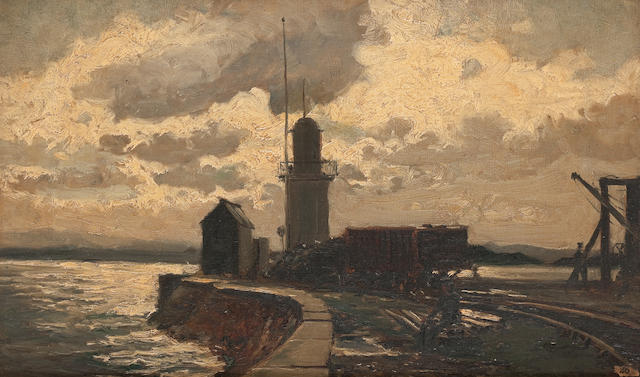 Robert Noble, RSA PSSA (British, 1857-1917) Lighthouse