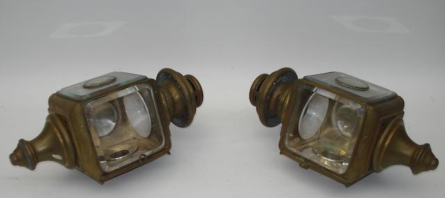 A large pair of Bleriot electric sidelights,