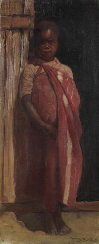 Frans David Oerder (Dutch, 1867-1944) Portrait of a child in a doorway