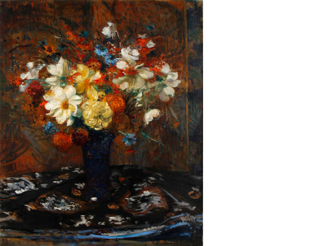 Jacques Emile Blanche - still life of flowers, For Reasearch